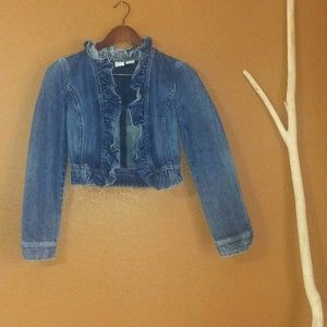 A/ XArmani Exchange Cropped Jean Jacket